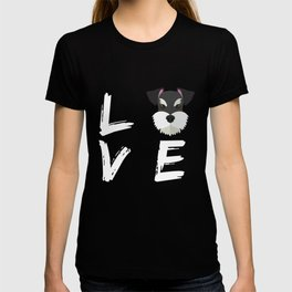Schnauzer Gift I Love My Schnauzer Love My Dog Lover T-shirt