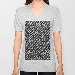 Modern Black White Popular Trendy Abstract Pattern Unisex V-Neck