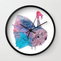 turkey Wall Clocks featuring turkey by Lucy Feebs