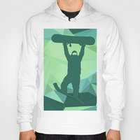 snowboard Hoodies featuring Snowboard by B Remembered Designs