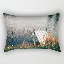 Flower Lake Rectangular Pillow