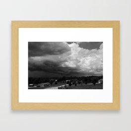 Dark Days: Approach Framed Art Print