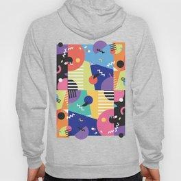 Colourful Memphis Block Design Hoody
