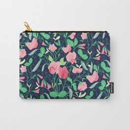 Pretty floral pattern. Sweet Pea. Carry-All Pouch