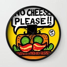 no cheese please! Wall Clock