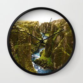 River Through the Valley (Color) Wall Clock