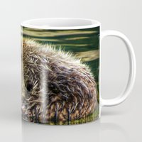 otter Mugs featuring Otter Dreams by Victoria's View