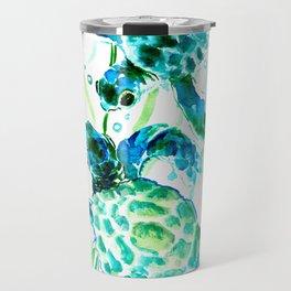 Sea Turtles, Turquoise blue Design Travel Mug