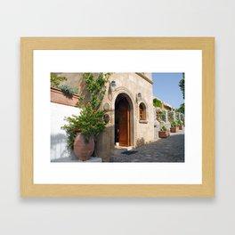 Greek Doorway Framed Art Print