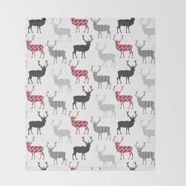 Christmas Pattern Deer Throw Blanket