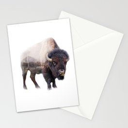 Mountain Bison Stationery Cards