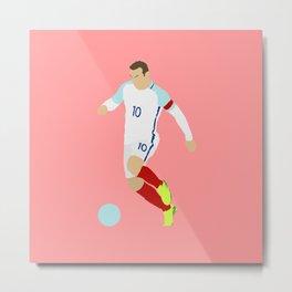 Wayne Rooney England Print Metal Print