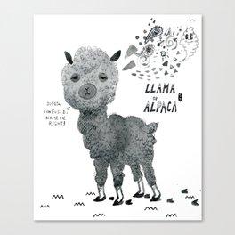llama or alpaca Canvas Print