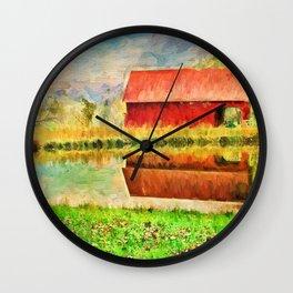 Farm Reflections Wall Clock