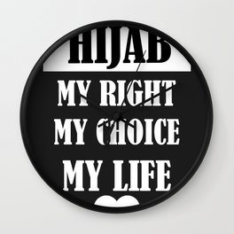 hijab love Wall Clock