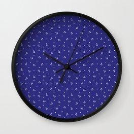 Anchors & Dots Wall Clock