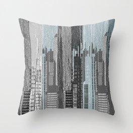 Manhattan / Blue Throw Pillow