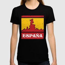 Spain print I Sights Plaza Mayor Horse Viva ESPANA Gift T-shirt