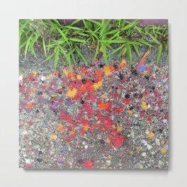Paint Splatters Metal Print