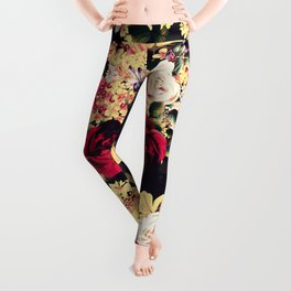 Roses and lilac. Beautiful victorian design Leggings