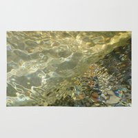 the 100 Area & Throw Rugs featuring H2O #100 by Lena Weiss