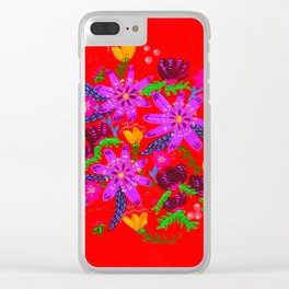 Orange Violets Clear iPhone Case