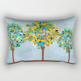 Painted Trees Digital art  composition Rectangular Pillow