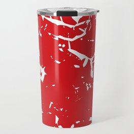 Abstract art red Travel Mug