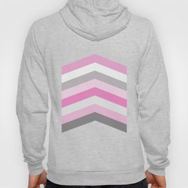 Pink and gray chevron Hoody