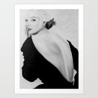 vogue Art Prints featuring VOGUE by Rob Delves