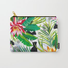Pattern Cats between plants Carry-All Pouch