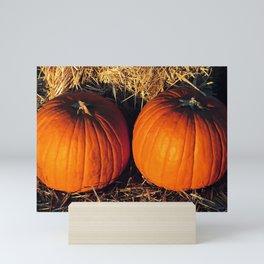 Twin Vintage Pumpkins Mini Art Print