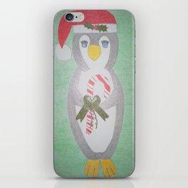 Christmas Penguin iPhone Skin