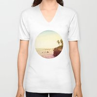 salt water V-neck T-shirts featuring Salt Water Dreams by M Studio