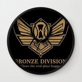 Bronze Division Wall Clock