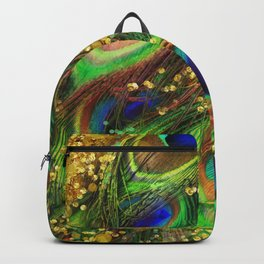 Fantasy Peacock Feathers Backpack