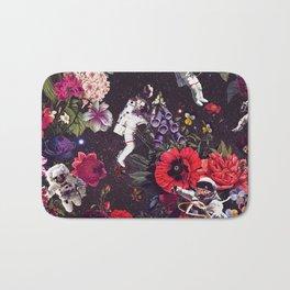 Flowers and Astronauts Bath Mat