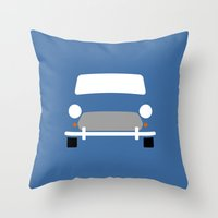 mini cooper Throw Pillows featuring Mini Cooper ( Mk VII ) by Nick Steen