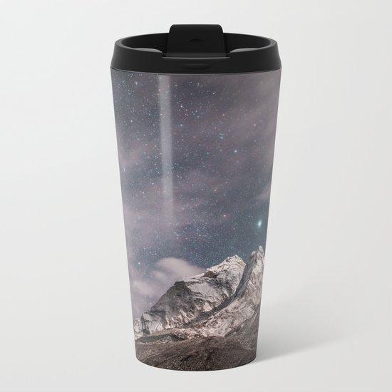 Space and earth collide Metal Travel Mug
