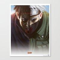 kakashi Canvas Prints featuring Kakashi X Obito by ImmarArt
