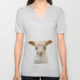 Baby Lamb Portrait Unisex V-Neck