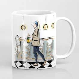 Modern Girl With The Pearl Earring Coffee Mug
