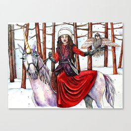 Winter Warrior by DeeDee Draz Canvas Print