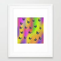 butterflies Framed Art Prints featuring Butterflies by Fine Art by Rina