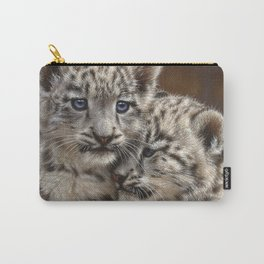 Snow Leopard Cubs - Playmates Carry-All Pouch