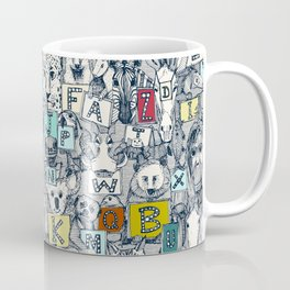 animal ABC indigo multi Coffee Mug