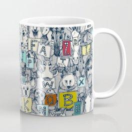 animal ABC indigo multi Coffee Mug