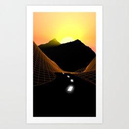 Sunlit Highway Art Print