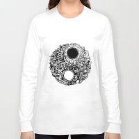 ying yang Long Sleeve T-shirts featuring Ying-Yang by Carina Maitch