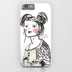 Gwen - Hipster Girl in Marker and Gouache Slim Case iPhone 6s